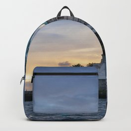 Statue of Liberty in New York at sunset Backpack