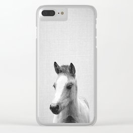 Baby Horse - Black & White Clear iPhone Case