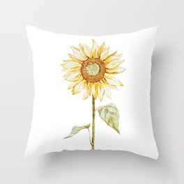 Sunflower 01 Throw Pillow