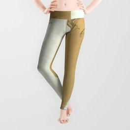 "Egon Schiele ""Female Nude with White Border"" Leggings"