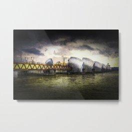 The Thames Barrier London Art Metal Print
