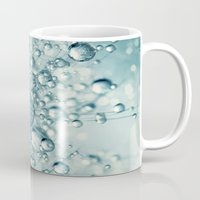 sparkles Mugs featuring Droplets & Sparkles by Sharon Johnstone