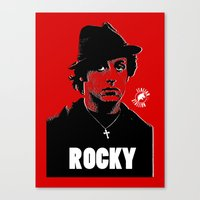rocky Canvas Prints featuring ROCKY by Adam Doyle