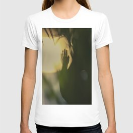 A Lonely Hand, wrist, in shadow, dark and light T-shirt