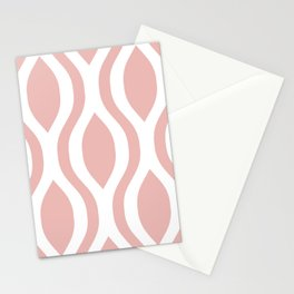 Pretty Ogee Pattern 374 Dusty Rose Stationery Cards