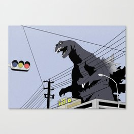 Godzilla, Mothra and King Ghidorah: Giant Monsters All-Out Attack Canvas Print