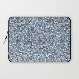 Indigo Medallion with Butterflies & Daisy Chains Laptop Sleeve