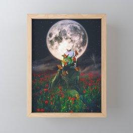 Under The Moon Spell  Framed Mini Art Print