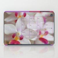 calendar iPad Cases featuring Calendar 2015 Orchids by Lena Photo Art
