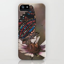 STAINED GLASS BUTTERFLY iPhone Case