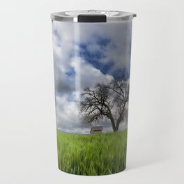 Old House In Field Travel Mug