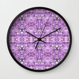 lilac stone flower Wall Clock