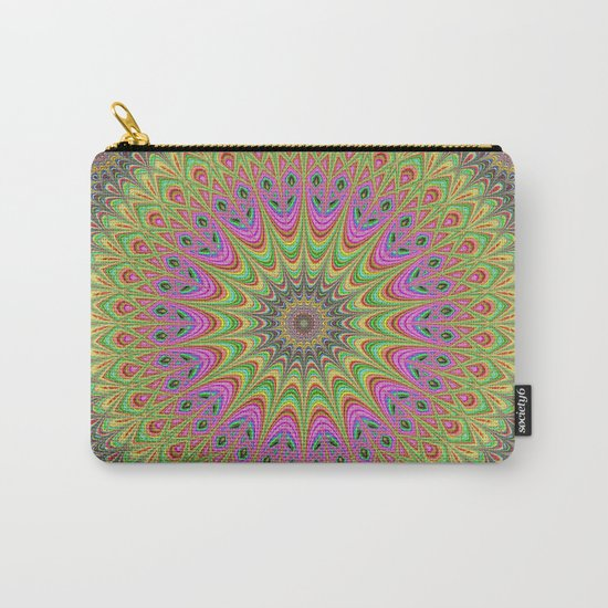 Floral ornament mandala Carry-All Pouch