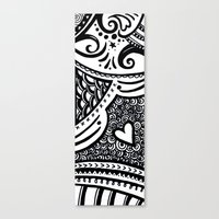 zentangle Canvas Prints featuring Zentangle by Wealie