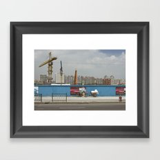 Construction site Framed Art Print