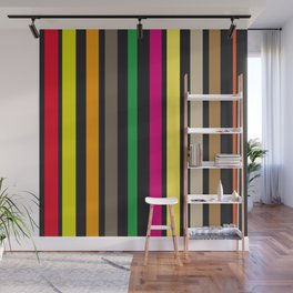 bold stripes and color Wall Mural