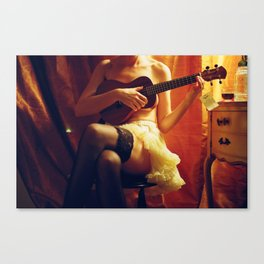 Silverlake, Los Angeles, CA. Uka and her Leles.  Canvas Print