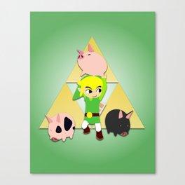 Wind Waker Pigs Canvas Print