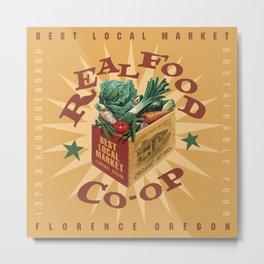 Real Food Co-op Poster Metal Print