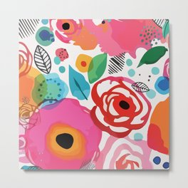Abstract Floret Metal Print