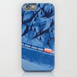 Camping in the moonlight at night while watching the train iPhone Case