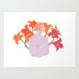 Fire Lilies Art Print