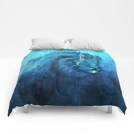Blue Spirit Lion Comforters