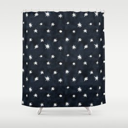Midnight Starlet Shower Curtain