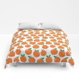 Oranges - sweet fruit summer fresh vegan vegetarian juicing cleanse art print home office decor Comforters