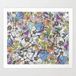 eastern flowers Art Print