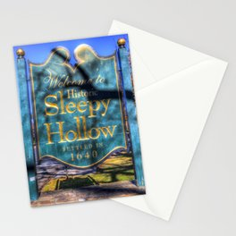 Sleepy Hollow Village Sign Stationery Cards