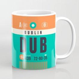 Baggage Tag A - DUB Dublin Ireland Coffee Mug