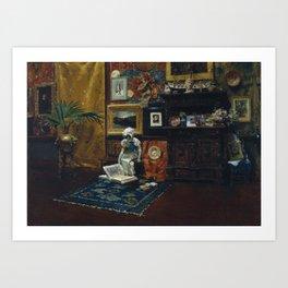 12,000pixel-500dpi - William Merritt Chase - Studio Interior - Digital Remastered Edition Art Print