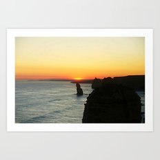 Sunset over the Great Southern Ocean Art Print