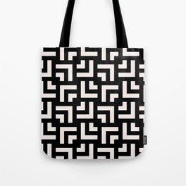 Bold geometric pattern - Stripe Tile Tote Bag