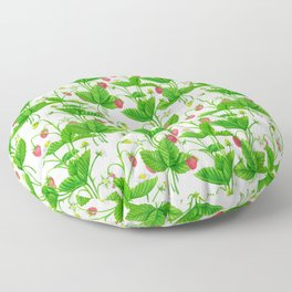 Strawberry garden Floor Pillow