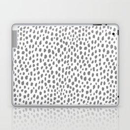 Gray Dalmatian Spots (gray/white) Laptop & iPad Skin