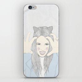 Cat girl iPhone Skin