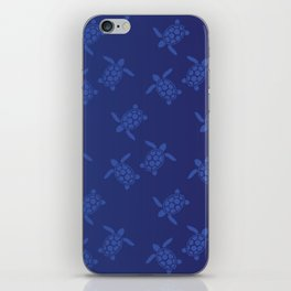 Navy Sea of Sea Turtles iPhone Skin