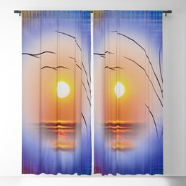 Abstract in perfection - Fertile Imagination Sunst Blackout Curtain