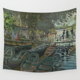 Claude Monet - Bathers at La Grenouillère Wall Tapestry