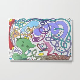 Mr Squiggly Ragamuffin Band Metal Print