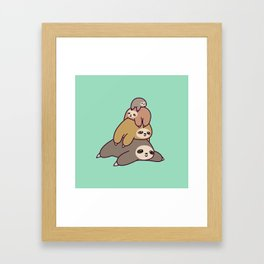 Sloth Stack Framed Art Print