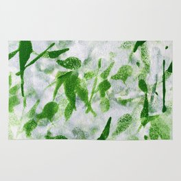 Green Abstract Pattern Rug