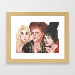 Hocus Pocus Witches Framed Art Print