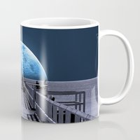 karl Mugs featuring Once in a blue moon by Donuts