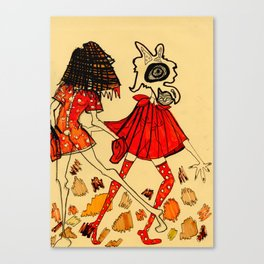 Red Ladies Canvas Print