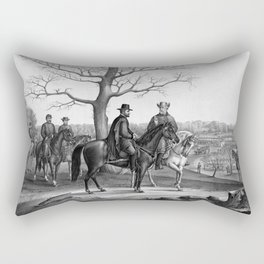Grant And Lee At Appomattox Rectangular Pillow