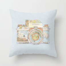 TRAVEL NIK0N Throw Pillow