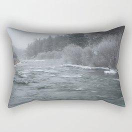 Winter On The Deschutes River Rectangular Pillow